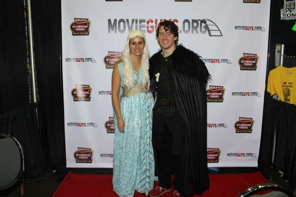 Some chick from Game of Thrones and John Snow