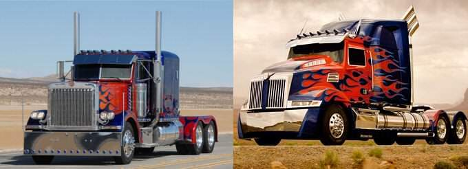 Optimus Prime Peterbilt replaced by a Western Star